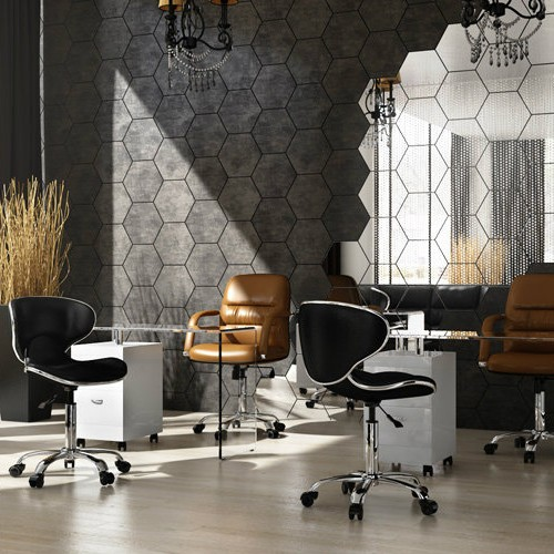 taboret comfort, stolik do manicure glass, krzesło do manicure UNO