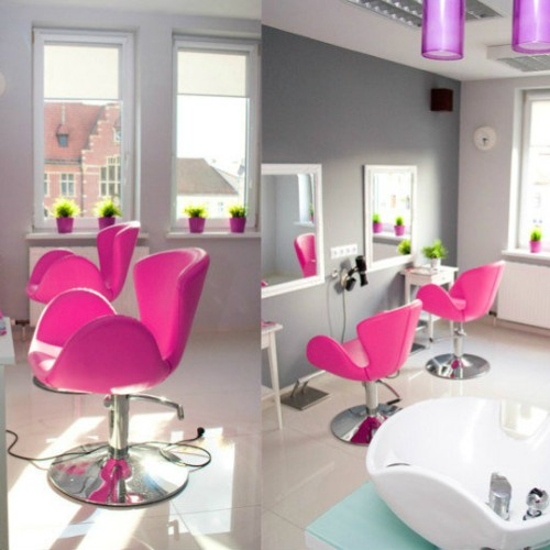 KAMAJO - Fotele fryzjerskie Aqua + MYJNIA FRYZJERSKA E-05A+E-05B