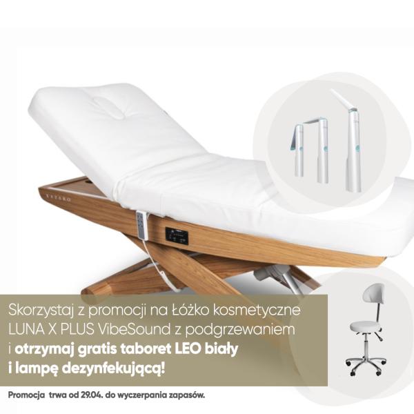 Łóżko kosmetyczne LUNA X PLUS VibeSound z podgrzewaniem białe
