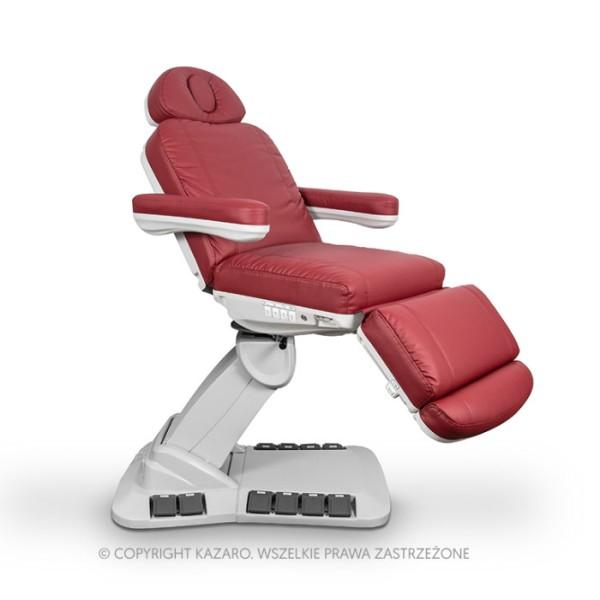 Fotel kosmetyczny NIKO obrotowy burgundowy z podgrzewaniem
